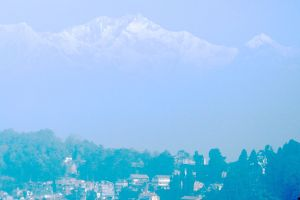 The Himalayas from Darjeeling