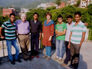 Patty & Harry with Boys' Team in northwest India